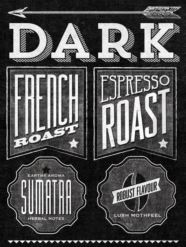 Starbucks Roast Guide Mural by Jaymie McAmmond, via Behance