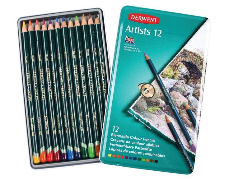 Derwent Artist Coloured Pencils -  Tin of 12, $29.95 (http://www.artshedonline.com.au/derwent-artist-coloured-pencils-tin-of-12/)