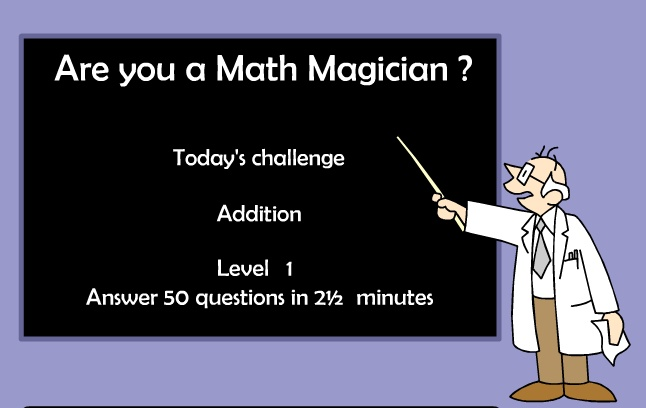 http://resources.oswego.org/games/mathmagician/maths1.html: Math Resources, Math Ideas