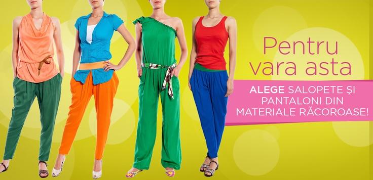 Ce v-aţi mai cumpărat de la noi?    Ştim că vă plac mult rochiile, dar avem de vânzare, de zilele astea, şi pantaloni de plăcut! :)    Online îi găsiţi aici: http://www.tinar.ro/pantaloni.html