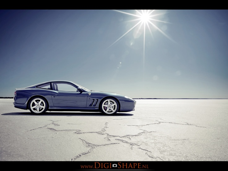 Ferrari 575M at the saltflats.