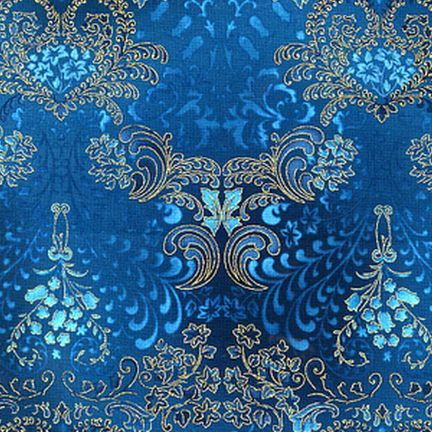 Robert Kaufman Fabrics: APTM-5574-213 TEAL by Peggy Toole from Fusions® 5574