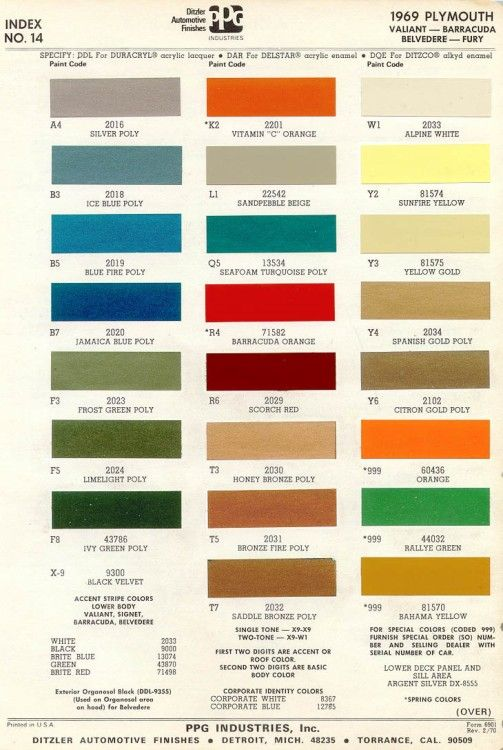 10 best images about colour cards on pinterest plymouth paint colors and dodge auto. Black Bedroom Furniture Sets. Home Design Ideas