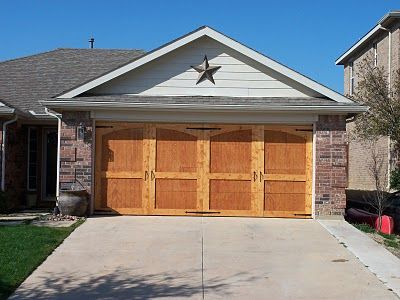 Remodelaholic » DIY Carriage House Garage Door Tutorial {over top of your existing garage door!}, plus sketches of different styles