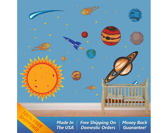 45 best baby stuff images on pinterest child room for Outer space vinyl wall decals