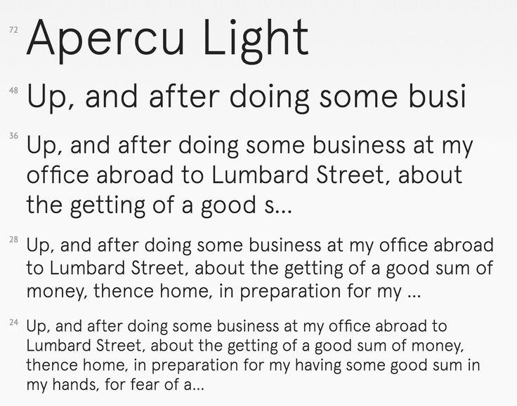 aperçu light by colophon foundry. available as a webfont from fontdeck.