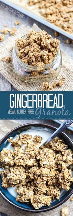 Gingerbread Granola [vegan, gluten-free]