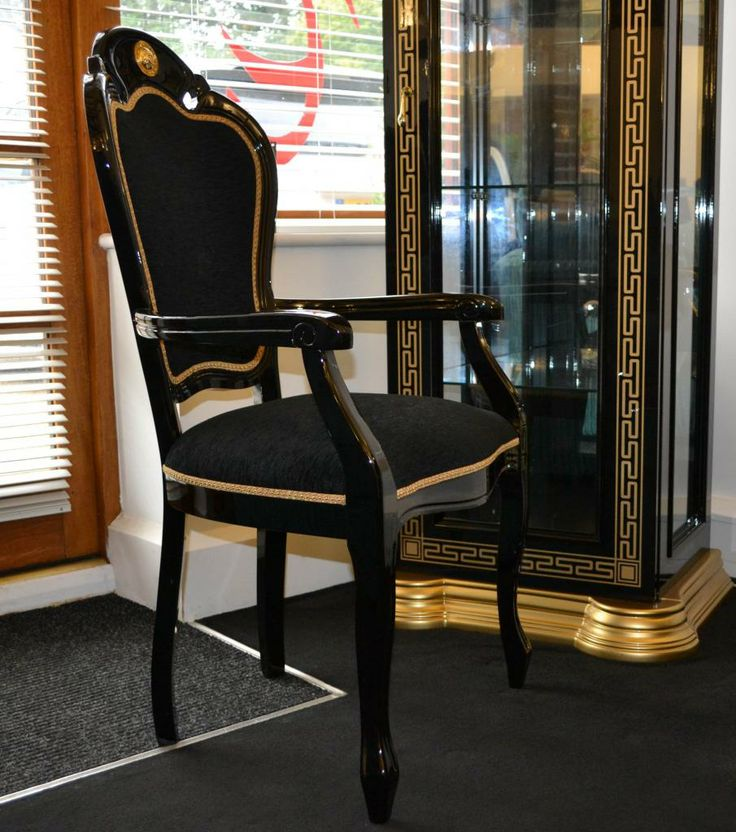 Great Forli Black  Gold Versace Carver Dining Chair Pi3b (905×1024) | Versace  _ I Looooove !!!! | Pinterest | Versace Versace And House
