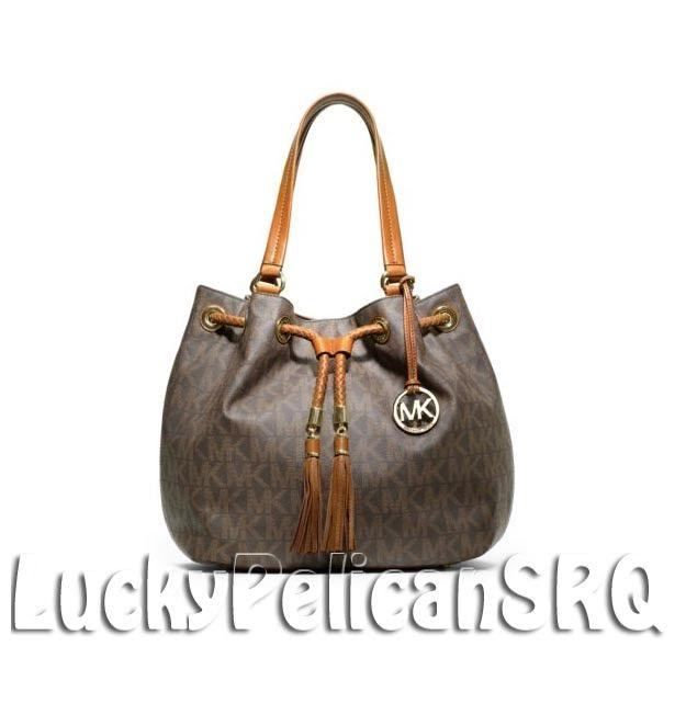 MICHAEL KORS Jet Set PVC Large Marina MK Signature Tote  Bag Brown NWT #MichaelKors #TotesShoppers