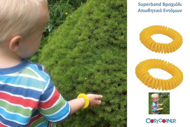 Το superband βραχιόλι είναι κατάλληλο για παιδιά και ενήλικες. Δεν περιέχει Deet (N,N-Diethyl-meta-toluamide) και είναι ασφαλές για όλους. http://goo.gl/C8GZf6