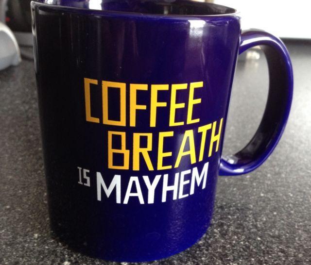 Coffee Breath Is Mayhem Mug Allstate Style Pinterest