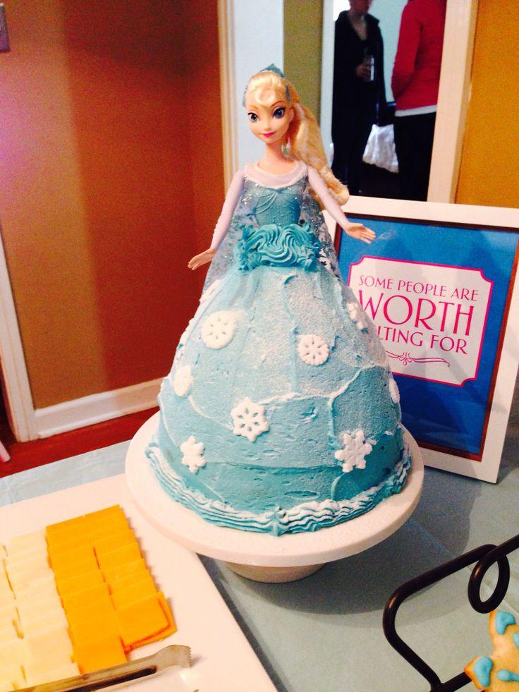 Frozen Elsa Doll Cake Using Wilton Wonder Mold Plus 8