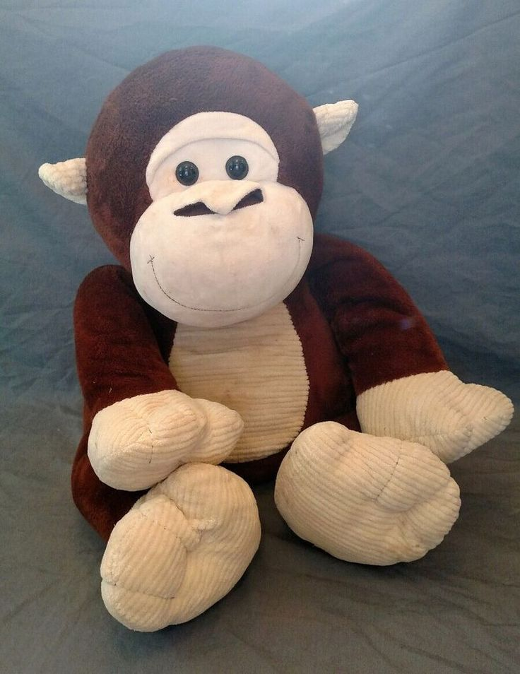 #Large #Huge #Plush #Toy #Gorilla #Monkey #Stuffed #Animal #Baboon #Chimpanzee #Chimp #Used