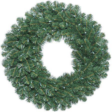 Vickerman 48 inch Oregon Fir Artificial Christmas Wreath, Unlit, Green