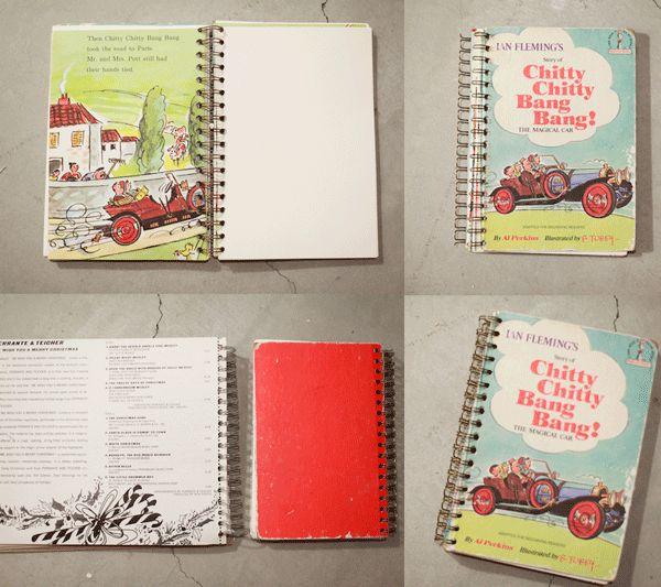 diy vintage notebook