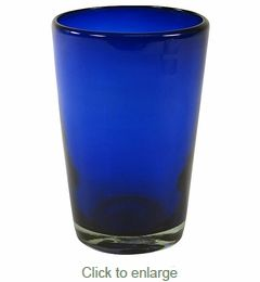 Large Cobalt Blue Drink Glass