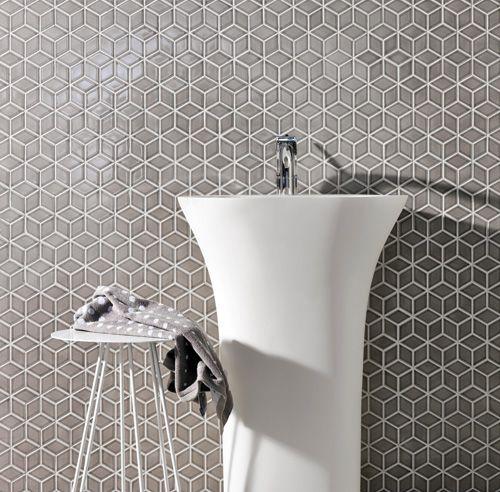 Salle de bain : Tendances céramique formes géométrique!