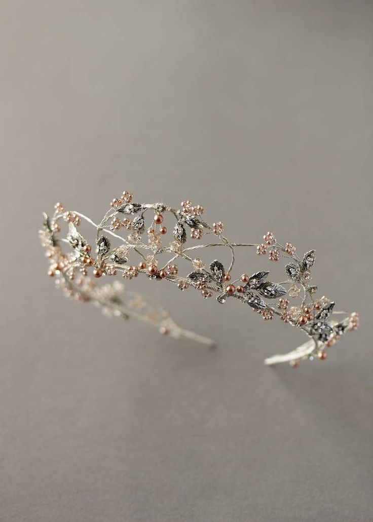 Intricate Antiquity   A silver and rose gold wedding crown