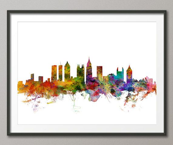 Atlanta Skyline Atlanta Georgia Cityscape Art Print by artPause