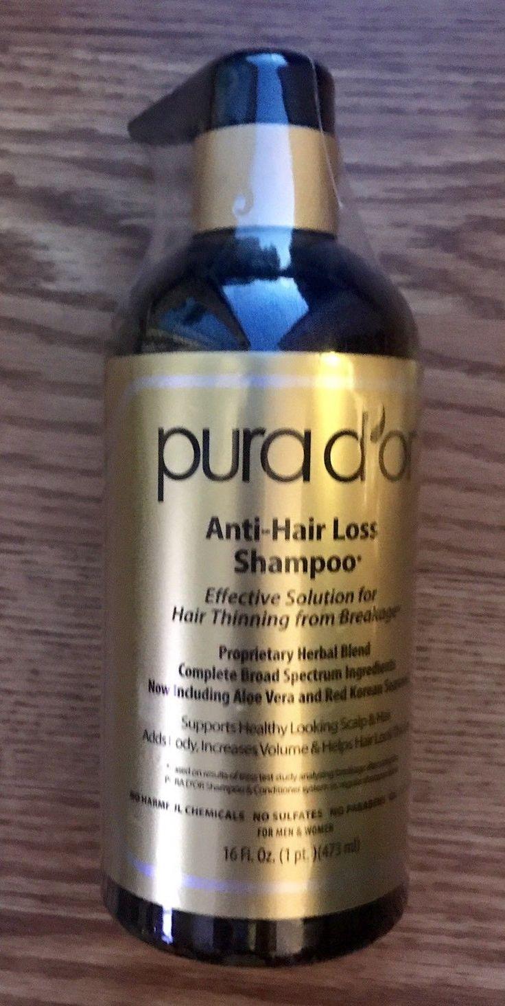 New PURA DOR Anti-Hair Loss Shampoo (Gold Label) 16 fl oz