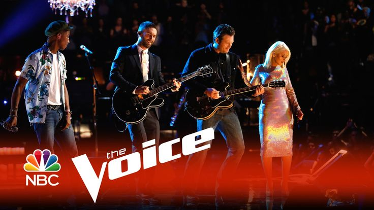 "The Voice 2015 - Blake, Adam, Pharrell & Christina: ""The Thrill Is Gone"" in honor of the late, great B. B. King.  Watch Pharrell on drums."