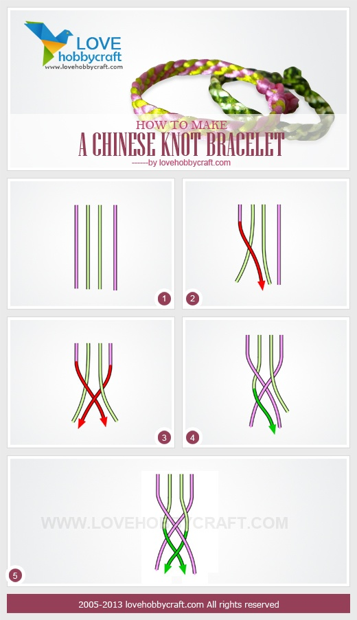 Chinese knot bracelet