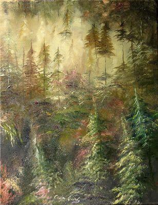 PINTURA AL OLEO Y FOTOGRAFIA Carlos García: Bosque 3. Óleo 35 x 46 cm. Forest 3…