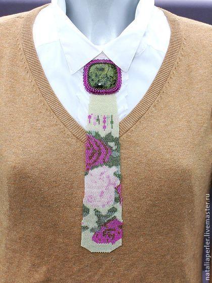 """Галстуки, бабочки ручной работы. Ярмарка Мастеров - ручная работа Галстук со змеевиком """"Розы"""". Handmade."""