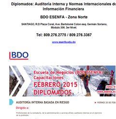 Diplomados: Auditoría Interna y Normas Internacionales de Información Financiera - Publicidad