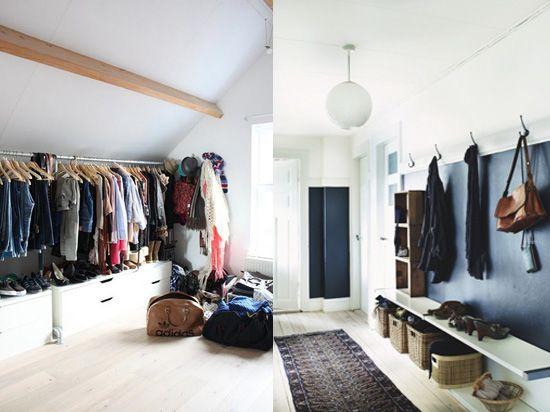 closets and entry: Dream Closets, Open Closets, Dreams Closet, Spare Room, Closet Solutions, Dark Wall