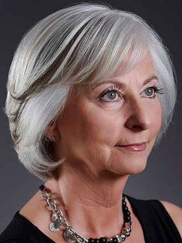 Long Hairstyles For Seniors : Bob long short pixie hair styles for grey older women