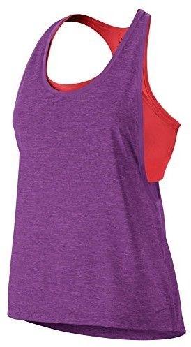 Nike New Women's Pro Inside Loose Tank Top Cosmic Purple/Htr/Lt Crimson/Purple Large
