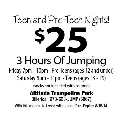 Springs Trampoline Park Waiver: 14 Best Specials Images On Pinterest