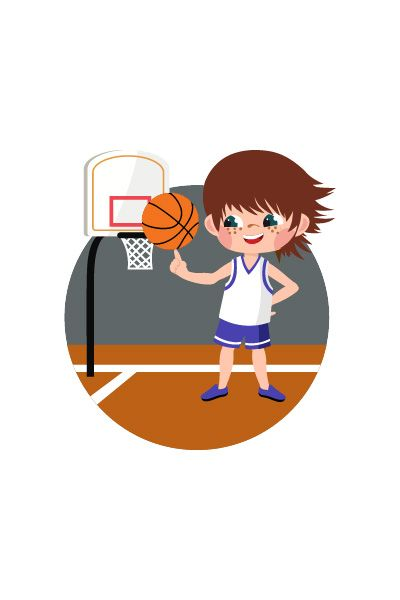 Kid Playing Basketball Vector Image #basketball #vector http://www.vectorvice.com/kids-activities-vector