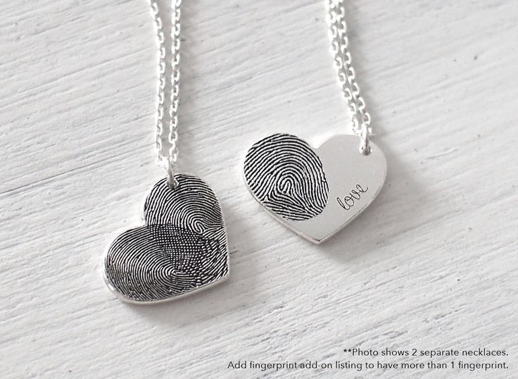 Custom Actual Fingerprint Heart Necklace - Delicate Personalized Fingerprint Necklace For Her - Wedding Gifts - PN21 by GracePersonalized on Etsy https://www.etsy.com/listing/210646469/custom-actual-fingerprint-heart-necklace