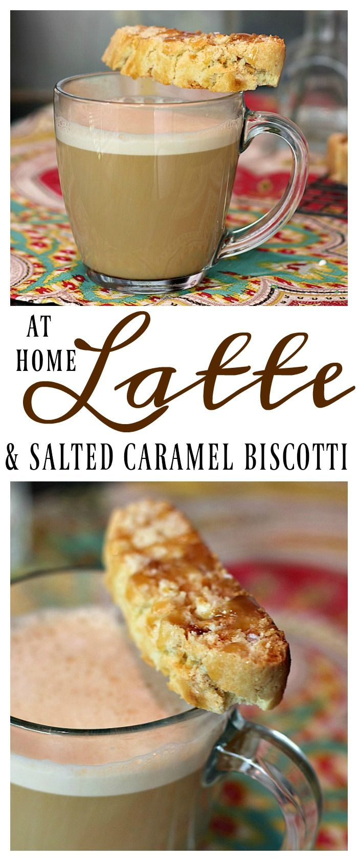 Celebrate Mother's Day with this easy Caramel Latte made with @indelight  One Touch Latte™ from @walmart and a Salted Caramel Biscotti recipe! #LatteMadeEasy #ad