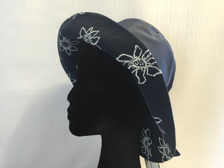 Navy daisy print wet weather #australian made #preciouscargo #wet weather hats