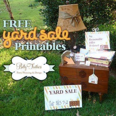 Garage Sale Sign Printables: Garage Sales Signs, Printable Yard, Yardsal Signs Ideas, Yard Sale Signs, Yard Sales Signs, Parties Ideas, Price Tags, Free Printable, Garage Sales Tips