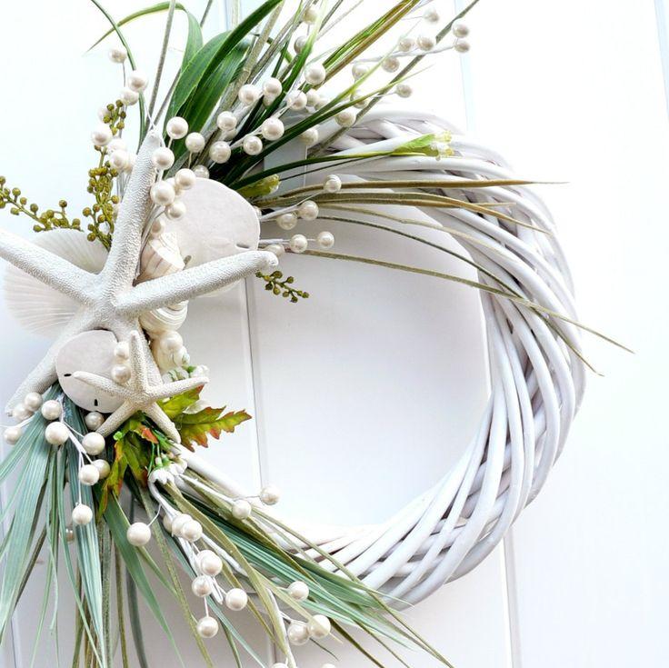 Beach Wreath Classic White. $58.00 USD, via Etsy.
