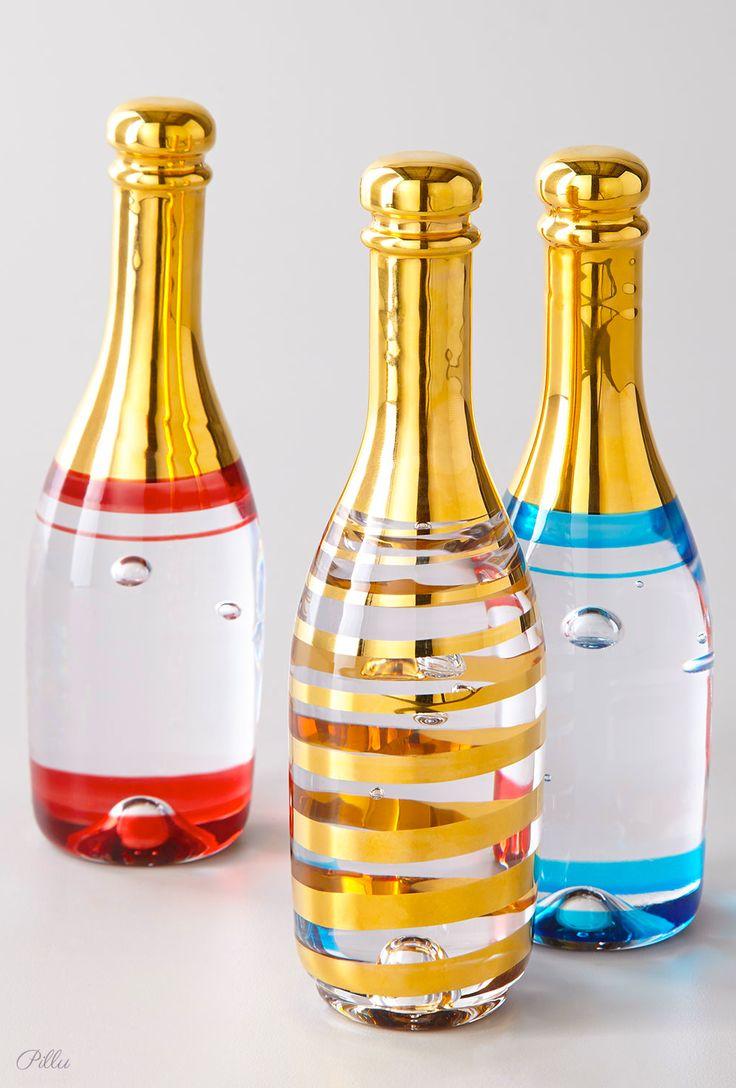 Kosta Boda Celebrate Champagne Bottle. Designed by Kjell Engman. #design #packaging #champagne PD