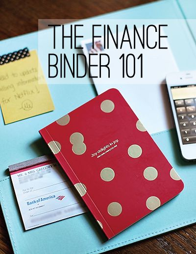 ORGANIZING THE FINANCES...I have that little journal already! :)