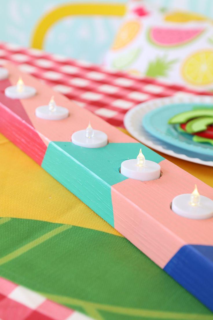DIY Candle Centerpiece   damask love
