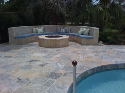 Large Fire Pit eclectic firepits