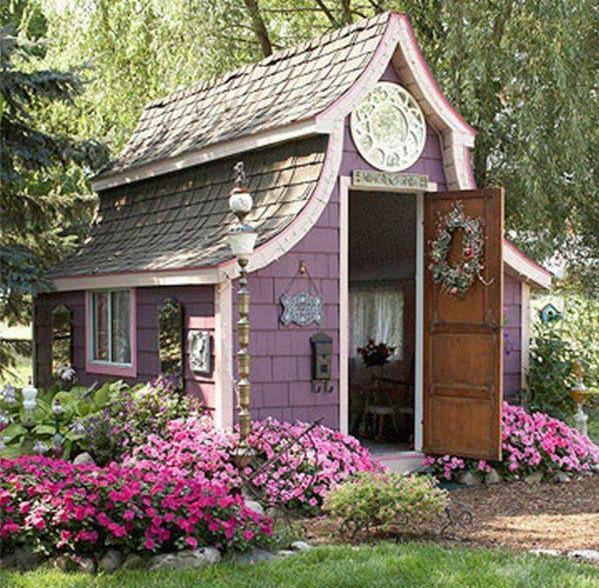 ogrodowy domek...: Garden Sheds, Tiny House, Dream, Guest House, Outdoor, Cottages, Gardensheds, Playhouse