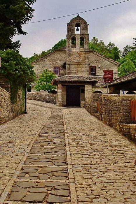 Church in Monodendri. Zagoroxoria, Epirus