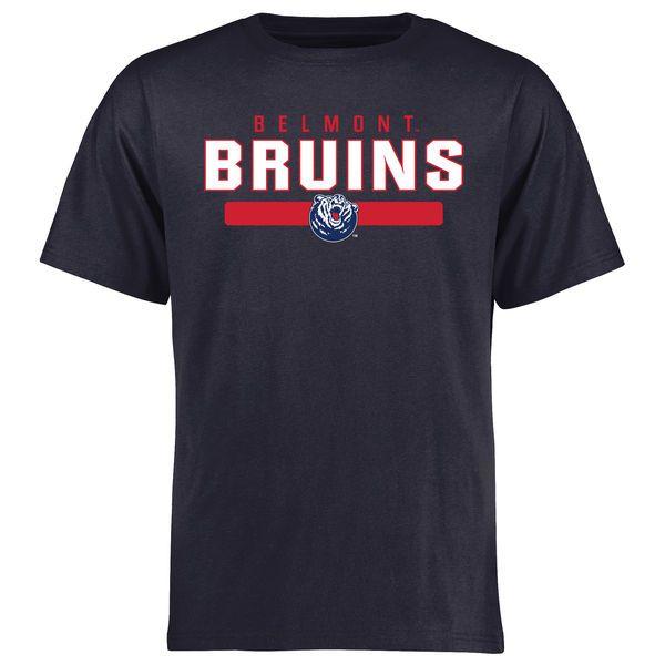 Belmont Bruins Team Strong T-Shirt - Navy - $21.99