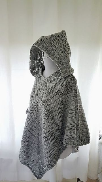 Hooded Poncho Pattern By Frisian Knitting Stuff To Try Pinterest