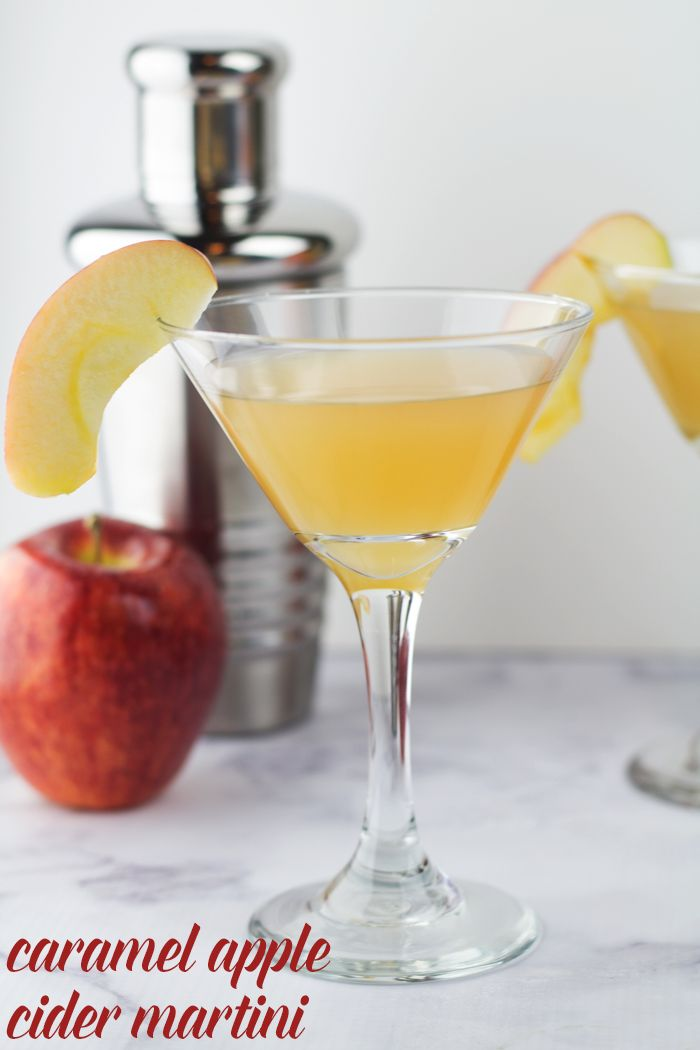 Smooth caramel vodka, sweet apple cider and Crown Royal Regal Apple Whiskey come together in this tasty Caramel Apple Cider Martini!