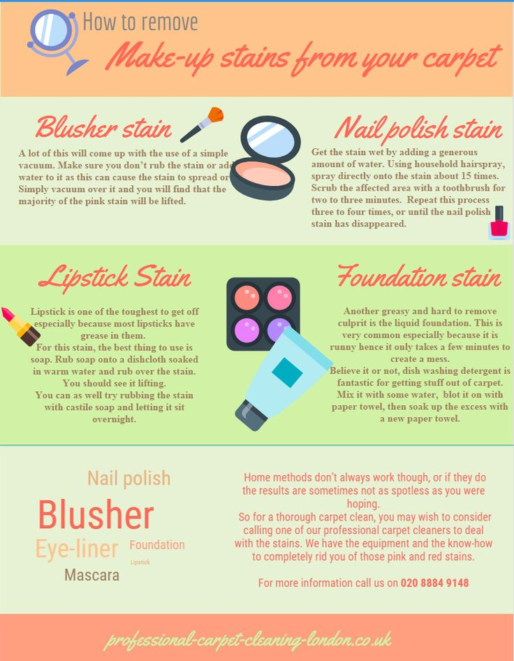 How to remove make-up stains from carpet