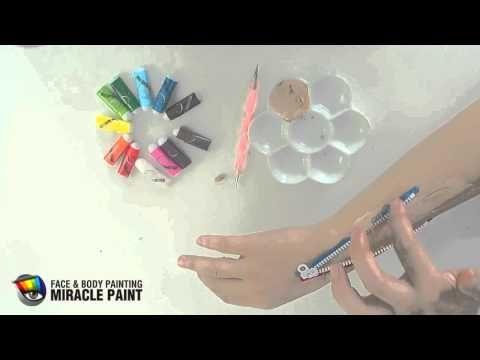 【フェイスペイント教室】特殊メイク!トリックアートの描き方/ファスナーボディペイント - YouTube